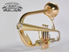 Christian Scott Trumpet custom made by Adams. Interesting one piece mouthpiece lead pipe?