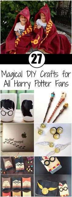 27 Magical DIY Crafts for All Harry Potter Fans Although the last Harry Potter movie came out in the hype surrounding the young wizard is still here (especially since J. Rowling is writing new novels). Harry Potter is definitely in the same ranks Harry Potter Thema, Harry Potter Navidad, Harry Potter Weihnachten, Harry Potter Fiesta, Deco Harry Potter, Cumpleaños Harry Potter, Harry Potter Classroom, Harry Potter Presents, Harry Harry