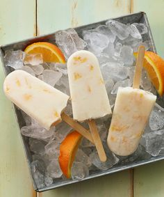 Orange Yogurt Pops recipe #Recipe #Orange #Popsicle