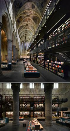 located in Maastricht, Holland. Dutch architects Merkx + Girod had converted this Dominican church into one of the most incredible bookshops...