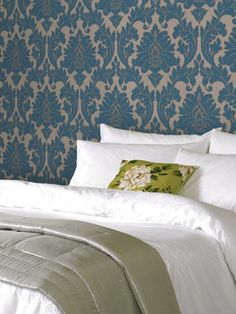 Graham & Brown offers a wide selection of Damask wallpaper and wall coverings for your home. Shop for modern design wallpaper and Damask wall coverings now. Bathroom Wallpaper Teal, Damask Wallpaper, Textured Wallpaper, Wallpaper Ideas, Designer Wallpaper, Adhesive Wallpaper, Vinyl Wallpaper, Wallpaper Roll, Home Bedroom