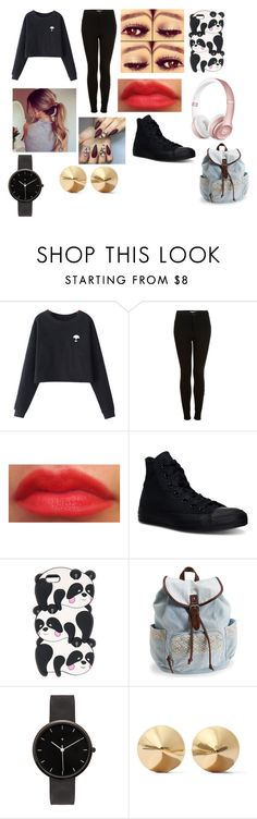 """""""Untitled #460"""" by laesr1118 on Polyvore featuring Chicnova Fashion, Topshop, Converse, Aéropostale, I Love Ugly and Eddie Borgo"""