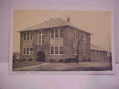 VA-LOUISA-High-School-W-E-BURGESS-SCOTTSVILLE-Postcard