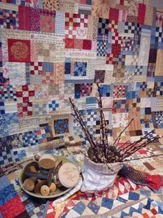 Cosy Quilt & Home: Mode in Quilts? - multi pattern block collage