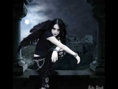 Gothic girl with wings. So beautiful. Gothic I would so date her!