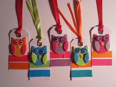 SET OF 5 OWL GIFT TAGS