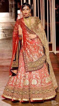 #Tarun Tahiliani at India Bridal Fashion Week (IBFW) 2013 # bridal lehenga
