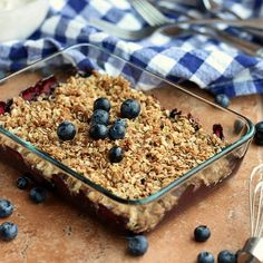 Light and Healthy Blueberry Crisp...under 200 calories per serving and minimal added sweetener, this is a treat you can feel GOOD