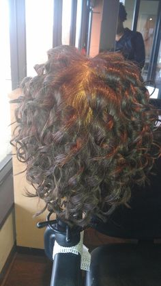 Piggyback perm long hair long spiral perm from russian for C curl perm salon vim