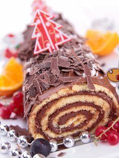 Bûche végétarienne chocolat/orange /// #ElleHabiteLa #Marmiton #Aufeminin #Noël #recette #bûche