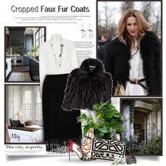 How To Wear Cropped Faux Fur Coats Outfit Idea 2017 - Fashion Trends Ready To Wear For Plus Size, Curvy Women Over 20, 30, 40, 50