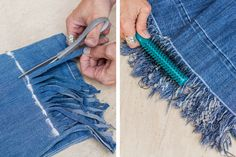 Fringed Hem Jeans Harvest 2019 Fringed Hem Jeans Harvest The post Fringed Hem Jeans Harvest 2019 appeared first on Denim Diy. Diy Jeans, Diy Ripped Jeans, Jeans Refashion, Diy Shorts, Women's Jeans, Hemming Jeans, Denim Pants, Fringe Hem Jeans, Fringe Pants