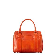 gorgeous bright orangey red handbag