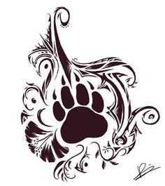 Tribal Bear And Paw Tattoo - Tattoo Ideas Wolf Tattoos, Bear Paw Tattoos, Maori Tattoos, Tattoos Skull, Tribal Bear Tattoo, Tribal Animal Tattoos, Tribal Tattoo Designs, Tattoo Animal, Tribal Animals