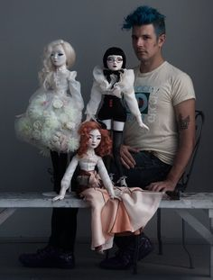 JDavidMcKenney and his three Maquette/Prototype dolls