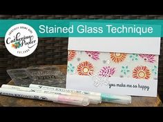 Stained Glass Technique with White Embossing on Vellum – Catherine Pooler