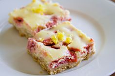 Strawberry-Lemon Cheesecake Squares - 3 by Sugarcrafter, via Flickr