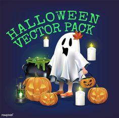 Halloween  vector set| free image by rawpixel.com