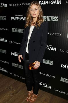 Olivia Palermo wears an over sized blazer perfectly!
