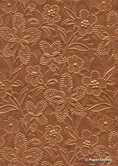 COPPER EMBOSSED FLORAL