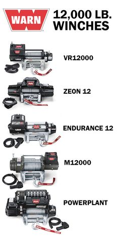The lineup of 12,000 lb. capacity WARN winches. Which one is right for your rig?