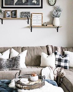 """#LTKhome on Instagram: """"Buffalo check, touches of fur and wood accents, add a rustic appeal to your living space a la @belleamourblog 