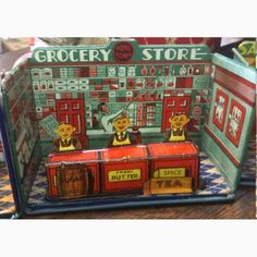 Vintage tin grocery store