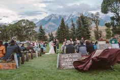 Check out this stunning Montana wedding...It's exactly as you'd expect it. l TheKnot.com