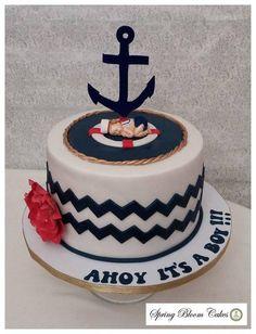 Sailor Boy Baby Shower Cake