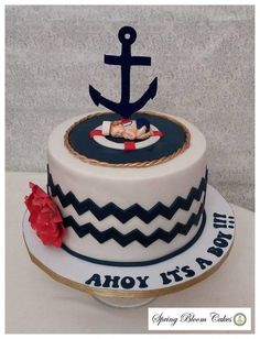 No On The Whale. Maybe A Boat Or Anchor. Ahoy Itu0027s A Boy Instead Of A Name  | Baby Shower Inspiration | Pinterest | Boats, Baby Showers And Baby Shower  Cakes