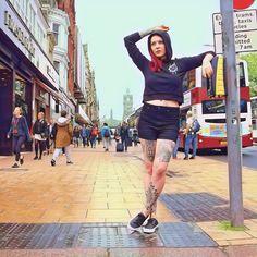 Weave & Deceive Cropped Hood available at www.CRMCClothing.co —— 🇬🇧 FREE UK SHIPPING w/ orders £50+ 🌎 FREE INTL SHIPPING w/ orders £120+ #summer #summerwear #womenswear #wearblack #edinburgh #scotland #streetwear #streetwearfashion #streetwearbrand #streetwearclothing #streetwearstyle #urbanwear #urban #gfys #tattoos #lit #dope #womenwithstreetstyle #luxurystreetwear #streetstyle #style #bestfitsdaily #streetweardaily #tattooed #tattooedhands #tattoomodel Streetwear Brands, Streetwear Fashion, Edinburgh Scotland, Cropped Hoodie, Free Uk, Fit S, Summer Wear, Wearing Black, Street Style Women