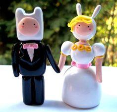 Adorno para pastel de bodas de Adventure Time