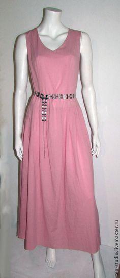 Купить Платье-сарафан, модель 8141144 - розовый, платье, подарок для детей, хлопок, хлопок 100%