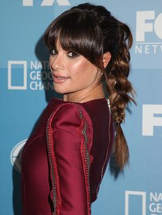 Summer Ponytail Hairstyles - Lea Michele