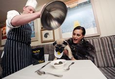 YASMIN LE BON AND LUIGI AT THE DINNER FOR DOGS AT GEORGE IN AID OF DOGS TRUST