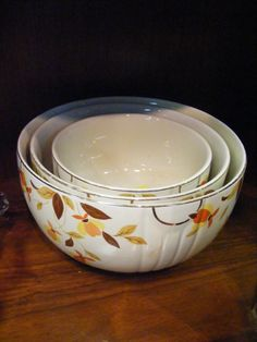 Jewel T nesting bowls set 3 Autumn leaf by BlessedBeeMelisa, $79.95