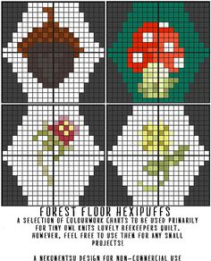 Ravelry: A Selection of Hexipuffs: Forest Floor pattern by Louise Lavender