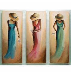 Σχετική εικόνα Paintings I Love, Easy Paintings, Proportion Art, Kids Art Galleries, Umbrella Painting, Paris Painting, Sisters Art, Islamic Wall Art, Fashion Illustration Vintage