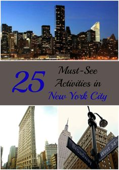 """""""Must See Activities in New York City, Flatiron, Empire State Building, New York Attractions, Wall Street"""" Luxury Travel, Travel Usa, Travel Tips, Travelling Tips, Travel Ideas, Traveling, Travel With Kids, Family Travel, New York Attractions"""