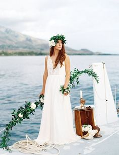 'Ethereal' by Opihi Love // sailboat wedding inspiration, destination wedding, Maui wedding.   Photographer Mirelle Charmichael  Styling by Opihi Love