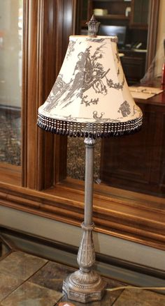 Beaded French Country Victorian Table Lamp