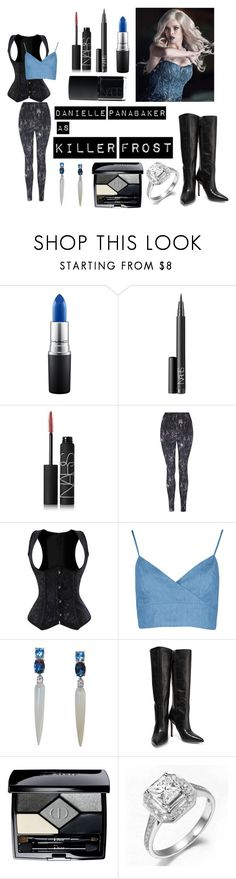Killer Frost by madelinem-2002 on Polyvore featuring George, Halston Heritage, Christian Dior, NARS Cosmetics, MAC Cosmetics, Dccomics, theflash and KillerFrost