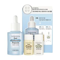 Real ampoule for healthy skin even in cold weather and external stimuli ! Centella, One Drop, Etude House, Healthy Skin, Cold Weather, Type, Day, Light Bulb, Cold