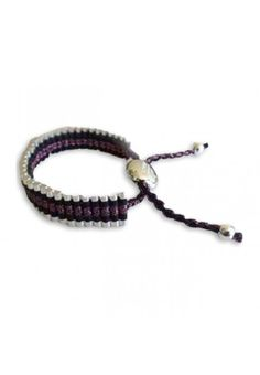 Cheap Links of London Bracelets Outlet, Links of London Friendship In Black And Dark Purple Wide Outlet Online Sale