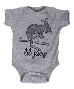 Take a look at this Athletic Heather 'Lil Joey' Bodysuit - Infant today!