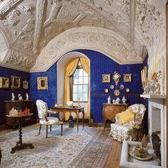 The Blue Sitting Room, Brodie Castle, Morey Scotland Amazing Architecture, Architecture Details, Interior Architecture, Scotland Castles, Scottish Castles, Brodie Castle, Inside Castles, Abandoned Buildings, Kirchen