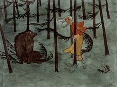Finnish National Gallery - Art Collections - Fear in The Woods, Hugo Simberg. An aquarelle. Art Gallery, Art Painting, Graphic Artist, Oil Painting Gallery, Art Reproductions, Painting, Painting Reproductions, Art, Magic Realism