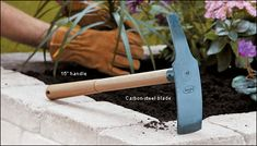 Looks as tho this would be helpful. Hoe, Lee Valley, Garden Tools, Garden Ideas, Roots, Plants, Gardening, Hardwood, Hand Made