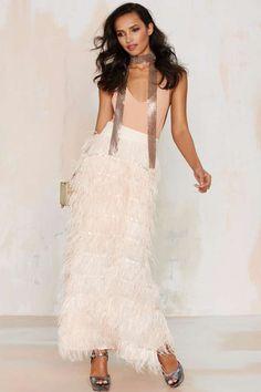 Line & Dot Amelie Ostrich Skirt - Clothes | Party Shop