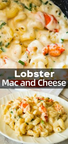 Lobster Mac and Cheese is a delicious seafood pasta recipe made with chunks of p. - Pasta dishes - Lobster Mac and Cheese is a delicious seafood pasta recipe made with chunks of p. - Pasta d. Pastas Recipes, Seafood Pasta Recipes, Seafood Appetizers, Diet Recipes, Easy Lobster Recipes, Kitchen Recipes, Vegan Recipes, Cheese Recipes, Recipes With Swiss Cheese